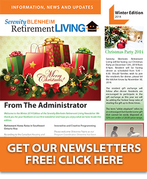 Serenity Blenheim Retirement Living Newsletters